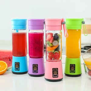 Portable USB Electric 6 Fruit Vegetable Personal Blender 400ml Rechargeable Juicer 4 Colors DHB791