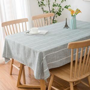 Massiv bestickter Esstisch Tuch Rechteckiger Polyester Dekorative Tischdecke für Tischgrau / Kaffee-Party-Cover