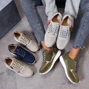 HOTWomen Shoes Gold Sneakers Zipper Platform Trainers Women Shoes Casual Lace-Up Tenis Feminino Zapatos De Mujer Womens Sneakers