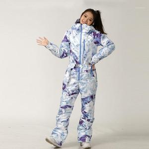 Ski Terno Mulheres Snowboard Jaqueta Calças Set Feminino Inverno Quente Esportes Ao Ar Livre Esqui Uma peça Hopeed Snow Roupas Jumpsuit1