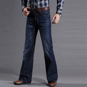 Mens Fashion Bootcut Denim for Men Business Casual Vintage Flare Pants 2020 Autumn Straight Leg Jeans Trousers Man