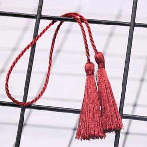 10 STÜCK Small zwei Kopf Seilband Quasten DIY Anhänger Schmuck Vorhang Kleidungsstücke Dekorative Zubehör Handtasche Pendelles Handwerk Quasten H BBYSNV