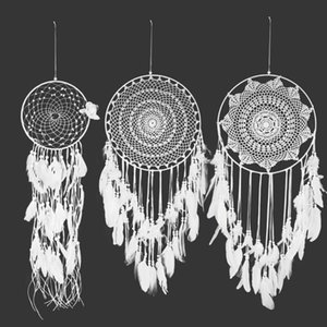 Dreamcatcher di grandi dimensioni Dreamcatcher Style Dream Catcher Decorazioni natalizie Home Decor Bianco Vento Chimes Dreamcatcher #