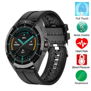 GW16T Thermometer Smart Watchs Heart Rate Fitness Tracker Blood Pressure IP68 water proof gps Sports bluetooth pk DZ09 android smart watch