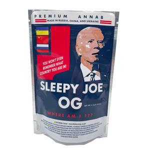 ¡Nuevo! 3.5g Sleepy Joe Biden OG Trump OG Plastic Packaging Bag Stand Up Pouch Zipper Bag