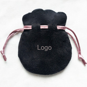 Black Velvet Cloth Bag fit Pandora Jewelry Necklace Earrings Bracelet Packaging Pouch Small Bags for Jewelry Fashion Beads Jewelry Pouches