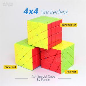 Fanxin Axis Fisher Windmill 4x4 Cube Nickerless 4x4x4 Волшебные кубики Hight дифцилстые профессиональные вагоны головоломки игрушки для детей Y200428