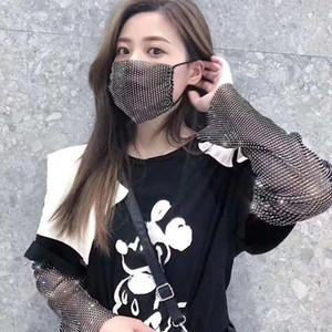 Sparkly Rhinestone Mesh Face Mask Masquerade Party Masks for Girls Women Adult Glitter Bling Mask With Diamond Christmas Stylish Design
