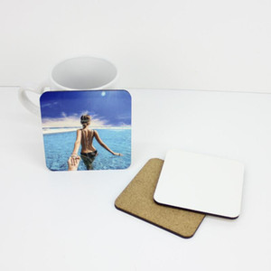 9*9cm Sublimation Coaster Wooden Blank Table Mats MDF Heat Insulation Thermal Transfer Cup Pads DIY Coaster LX4233