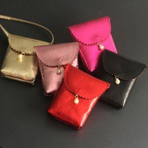 Kids Bags Children Shoulder Messenger Bags Baby Girl Pearl Mini Handbag Gold Purse Birthday Gift Princess Evening Party Bags 201204
