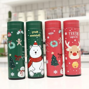 17oz Merry Christmas Santa Claus 3d Print Kids Bottle Gifts Sport Portable Waterproof Skidproof Double Wall Insulated Water Bottle Wholesale