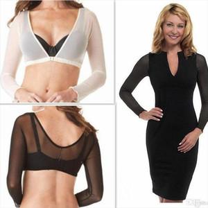 2019 New Fashion Plus Size Seamless Arm Shaper Short Cropped Navel Mesh Cardigan Bodyshaper women Hot