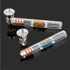 3.74 pollici tubo di vetro honeyPUFF può essere rimosso e pulito e trasparente tubo di vetro per fumare tabacco a mano tubi narghilè accessori caldi vendite