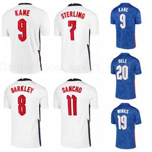 9 Harry Kane Jersey Soccer 7 Rahem Sterling 20 Dele Alli 15 John Stones 19 Jadon Sancho Harry Winks Kits de chemise de football Y-G-L