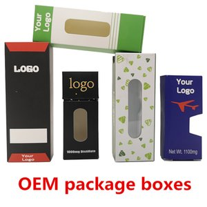 Custom Packaging Box For Vape Cartridges Battery Glass Syringe Glass Jar Custom Logo Gift Paper Box Blister Package E-Cigarettes