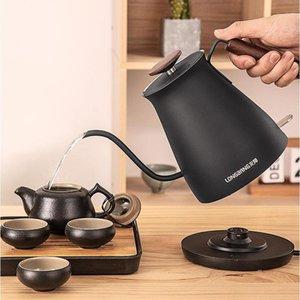 Elektrikli su ısıtıcıları 1.0L su ısıtıcısı gooseneck paslanmaz çelik ev ince ağız kaynar pot damla kahve el yumruk 220v1