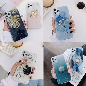 Soft TPU Glitter Ring Holder Case For Iphone 11 Pro Max 7 8 Plus XS MAX XR X Slim Marble Stand Back Cover