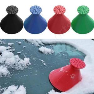 DHL Shipping New Magical Window Windshield Car Ice Scraper Snow Remover Cone Shaped Funnel Housekeeping Cleaning Tool 4 Colors DDA1889