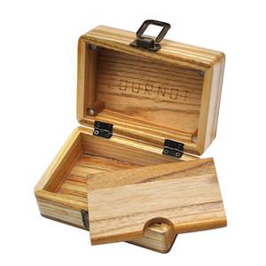 Newest Handmade Natural Wooden Stash Rolling Case Handroller Box Herb Tobacco Cigarette Roll Storage Box Cigar Lighter Smoking Tool DHL Free