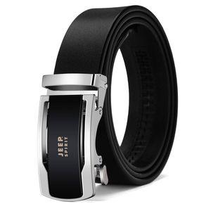 Luxury-Business Casual Genuine Leather Belt Men Cowskin Split Leather Designer Belt Automatic Buckle Men's 110-130cm