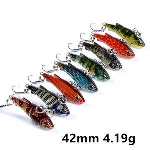 8 Color Mixed 42 mm 4.19 g VIB Fishing Hooks 10# Hook Fishing Lure Hard Baits & Lures Pesca Fishing Tackle SF-218
