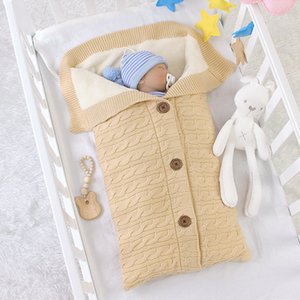 Autumn Winter Newborn Baby Boy Girl Envelope Type Thicken Brushed Sleeping Bag Clothes Infant Baby Hold Blanket Z1116