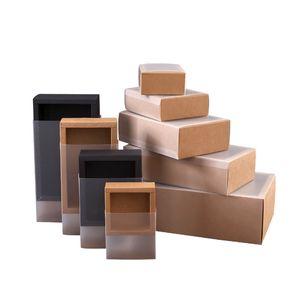 Матовое покрытие из ПВХ крафт бумаги ящики ящики DIY бумаги подарочная коробка для свадебной вечеринки подарочная упаковка