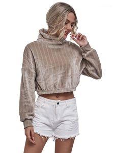 Ladies Sweatshirts Fashion Casual Autumn Winter Female Clothing Womens Designer High Neck Hoodies Long Sleeve Short
