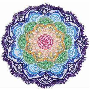 unisex Summer Thin Round Mandala tapestry Hippie Pareo boho Tapestries Wrap shawl Throw Towel blanket Mat Beach Cover Up Scarf G395