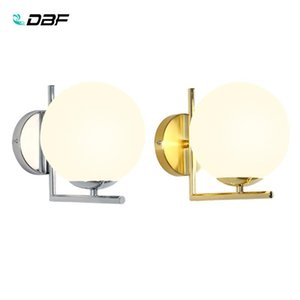 [DBF] Moderne Nordic Glass Meta Gold / Silver Ball Retro Vintage Lampe murale E27 Loft for Cafe Chambre Foyer