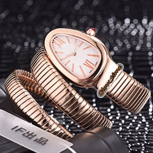Luxry version SERPENTI 35MM White Dial 101815 SPP35BGDG.1T Swiss Quartz Movement Womens Watch Rose Gold Case Bracelet Fashion Lady Watches
