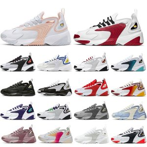 Men running shoes Fashion Zoom 2K M2K Tekno Triple white pink Grey Infrared Royal Blue Regency Purple Gym Red mens women sports sneaker