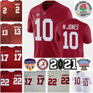2021 Playoff Alabama Crimson Tide Mac Jones Jersey NCAA Jaylen Waddle Tua THAYOVOAVOA NAJEE Harris Devonta Smith Jalen turt John Metchie III