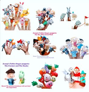 Various styles of cute mini velvet finger dolls, interactive teaching hand puppet performance props for infants and young childred1904215427