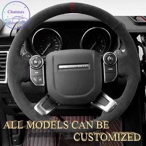 Alcantara جلد الغزال جلدية سيارة غطاء عجلة القيادة ل Land Rover Range Rover Velar Handsewing حامل التخصيص الرياضي الفاخرة الملمس