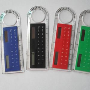 10cm Mini Couleur Solar Solar Energy Calculator Creative Multifonction Règle Student Règle Student Calculateur Cadeau de Noël en plastique