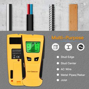 Metal Detector Machine 3 em 1 Encontre Metais Madeira Studs CA Voltagem Live Wire Detect Scanner de Parede Caixa Elétrica Finder Paredes Detectores Fábrica