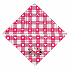 Valentines Day Dog Bandanas Double Sided Pet Triangle Scarf Dog Saliva Towel Pet Supplies Valentines Day Supplies DDD4206