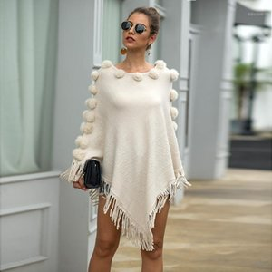 2019 Autumn Knitted Sweater Poncho Women Tassel Poncho Capes Women Winter Long Sweater Ladies Batwing sleeves Scarf Pullover1