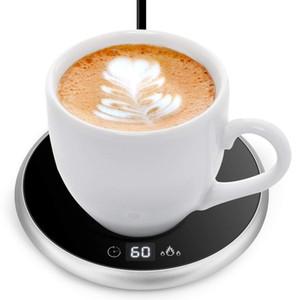 18W Electric Powered Cup Warmer Heater Pad 220V Hot Plate Coffee Tea Milk Mug Plug White Household Office CN plug Y1201