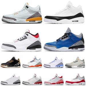 retro 3 3s Spor Ayakkabılar 2021 Yeni Varış Basketbol Ayakkabıları Lazer Turuncu Parça Ateş Kırmızı Jumpman Spor erkekler Rakipler Eğitmenler Spor ayakkabılar