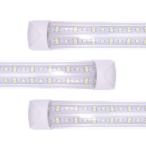 2021 NEW Integrate V Shape LED Tube 4ft 5ft 6ft 8ft T8 Tubes Light Double 8 ft LED Cool Light Freezer SMD2835 100LM W AC85-265