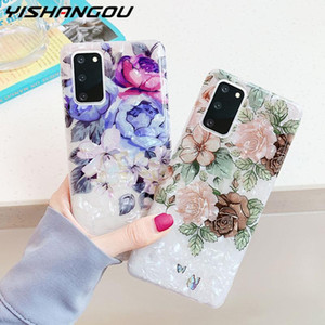 Lovely Conch Flowers Phone Case For Samsung Galaxy S20 Ultra S10 S9 S8 Plus S10E Note 8 9 10 Plus Soft IMD Silicone Back Cover