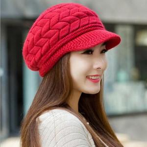 Knitted Hat Women Winter Hats For Women Ladies Beanie Girls Skullies Caps Bonnet Femme SnapBack Warm Wool Hat Sombrero Mujer