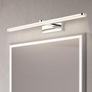 Modern Stainless Steel LED vanity front mirror light bathroom makeup wall mounted sconces bedroom lighting fixtures