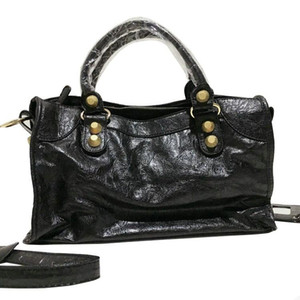 Women Designer Big Platinum Bag City Motorcycle Tote Rivets Punk Style Handbag with Makeup Mirror