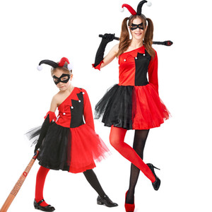 Costume Cosplay Harley Quinn Circus Clown Costume