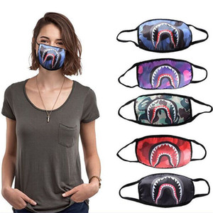 DHL-Fashion Cloth Masks PM2.5 Three layers of Cotton Household Protective Products Dustproof Accessories Cycling 5 Colors