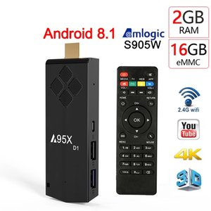 TV stick A95X D1 TV box Android 8.1 2GB 16GB 2.4G WIFI 4K Amlogic S905W Smart tvbox Media Player 1GB8GB