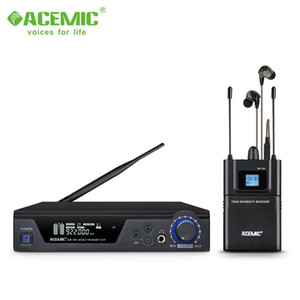 ACEMIC EM-100 Wireless in Ear Monitor System UHF Pro Audio 2 Channels 4 Receivers Bodypacks Monitoring with LCD Display